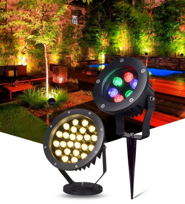 Outdoor Landscape 3W LED Event Lighting IP65 6/9/12/18/24/36W 12v/24v Grassland Color Trees
